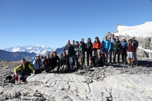 Group photo with Mont-Blanc